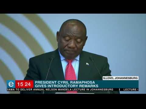 President Ramaphosa speaks at Mandela Lecture