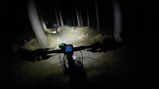 preview picture of video 'MTB Night Ride, Aspley Woods, Woburn Sands - March 2015'