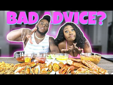 The Truth About Taking Advice + MUKBANG SEAFOOD | YUMMY CRAB LEGS | SEAFOOD BOIL  | Food Eating Show