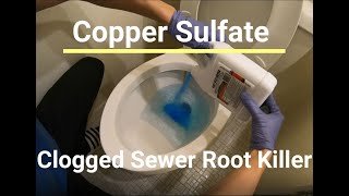 Sewage Drain and Sewer Line Tree Root Destroyer - Copper Sulfate Pentahydrate Instructions