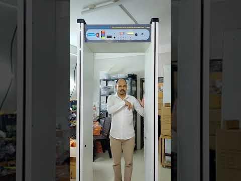 walk through metal detector with temperature  Sensor