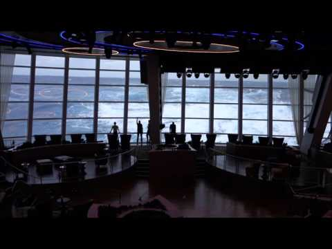 Anthem of the Seas Cruise Ship – Two70° Lounge – Big Waves!