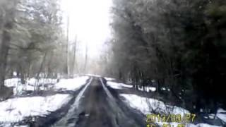 preview picture of video 'Muddy driveway in Elgin Quebec'