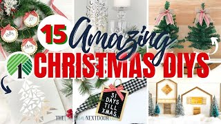 15 AMAZING CHRISTMAS DIYs | Christmas In July | Farmhouse Christmas Decor DIYs