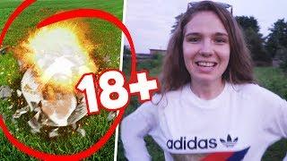 18+ ОПАСНО ВЗОРВАЛИ футбольный мяч // НЕ ПОВТОРЯТЬ