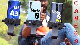 Redmi Note 8 pro vs Mi A3 vs Redmi Note 8 Full Camera Test 📷🔥
