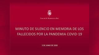 Minuto de silencio en memoria de los fallecidos por la pandemia COVId-19