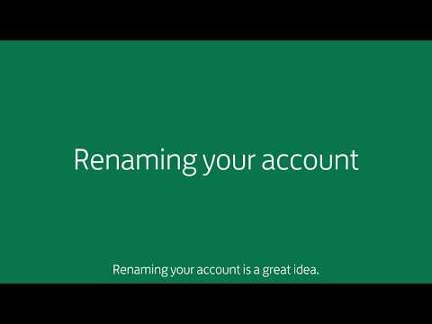 Renaming your account
