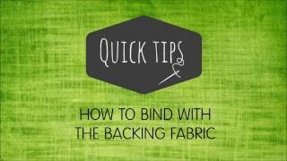 binding using the backing video