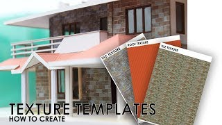 How To Create TEXTURE TEMPLATES For Building Models | Easy Way