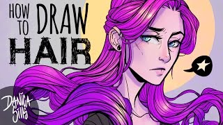 How To Draw Hair Tutorial ♦ Breaking Down Shapes + Adding Details