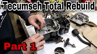 (Part 1) Tecumseh Small Engine Total Rebuild - with Taryl