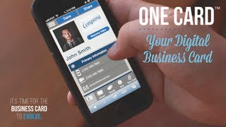 How to create your own virtual business card with your cell phone one card your digital business card colourmoves