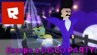 ROBLOX - Escape a Disco Party! - Part 16 [Escape the Minions!! Adventure Obby] - Android