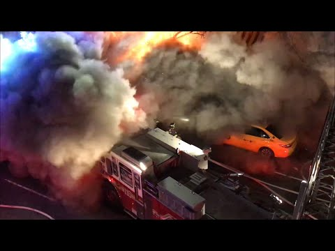 FDNY Firefighters get hit by a huge backdraft