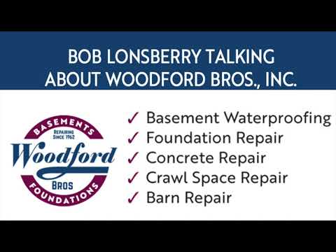 Bob Lonsberry talking about Woodford Bros., Inc. on WSYR 3/18   Founded in 1962 Woodford Bros., Inc. originally focused on barn, and foundation repair. Today the company has grown its expertise to include basement waterproofing, concrete leveling and repair, radon mitigation, and basement finishing. For over 50 years, Woodford Bros., Inc. has helped homeowners preserve and protect the value of their homes through its unique combination of experience, innovation, industry-leading products, installation techniques, and warranties. The company is headquartered at Apulia Station, along the historic train depot located just outside of Tully, NY. We serve a wide area of the state, including the cities of Syracuse, Rochester, Binghamton, Oswego, and Auburn.