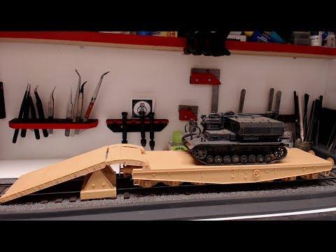 Trumpeter 1/35 scale Schwere Plattformwagen Tyoe SSyms 80 Build