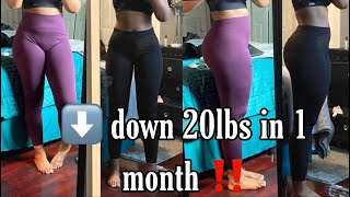 How I lost 20 Pounds in 1 Month