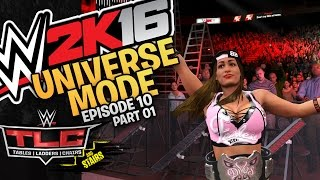 WWE 2K16 Universe Mode: Episode 10 - TLC PPV Part 1 (Gameplay)