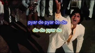 De de pyaar de karaoke with lyrics - YouTube