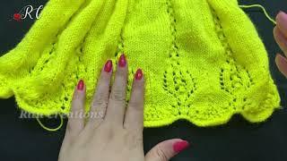 Knitting Pretty Baby Frock    फ्रॉक की बुनाई !!