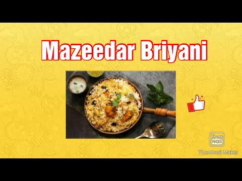 Mazeedar biryani