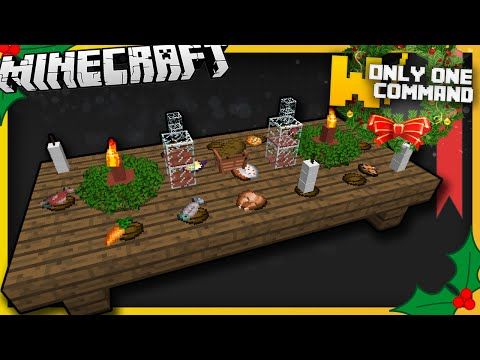 Christmas Minecraft Decorations.Christmas Dinner Items With Only One Command Block Minecraft
