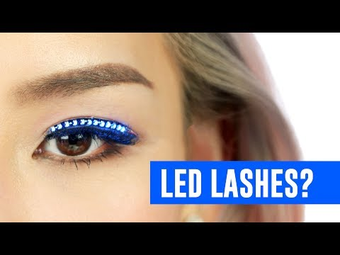 Testing out LED Lashes