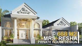 Video Desain Rumah Classic 1 Lantai Ibu Resha di  Sumatera Selatan