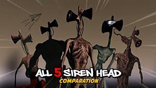 All 5 Siren Head - Comparation