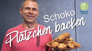 Plätzchen Backen   Schoko Kekse für Weihnachten und mehr