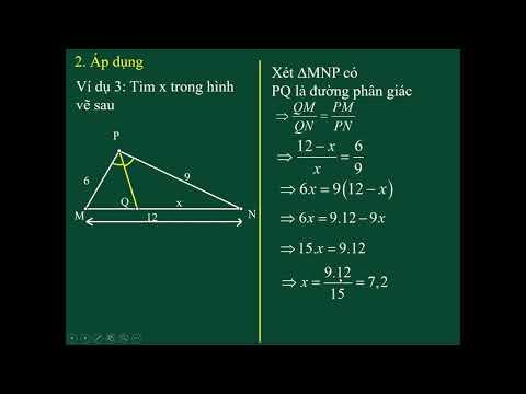Toán 8 - Bài 3: Tính chất đường phân giác của tam giác