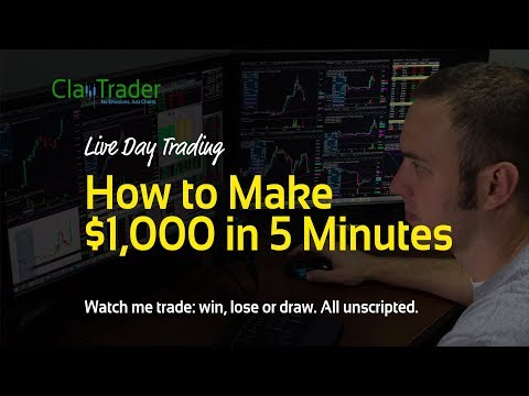 Live Day Trading: How to Make $1,000 in 5 Minutes