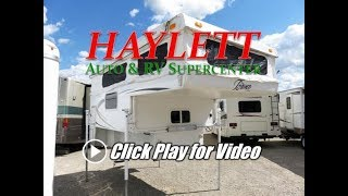 HaylettRV - 2010 Bronco 1251 Like New Used Truck Camper with Bathroom for Short Bed Half Tons