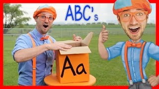 Learn The Alphabet With Blippi | ABC Letter Boxes - Video Youtube