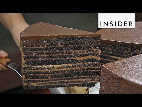 23-Layer Chocolate Cake At Michael Jordan's Restaurant