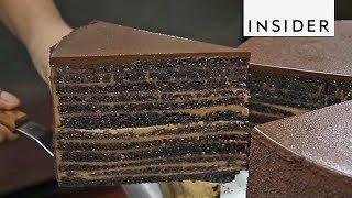 23-Layer Chocolate Cake At Michael Jordans Restaurant