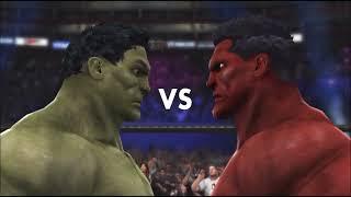 HULK VS Red HULK - WWE 2K14 - I Quit Match - AI vs AI -  MarcusGarlick