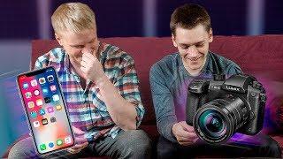 IPHONE X против камеры за 220000 рублей. БЛОЖИМ НА АЙФОН