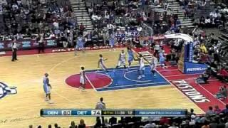 NBA Recap: Denver Nuggets Vs Detroit Pistons (26/1/11)