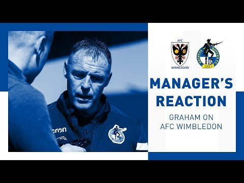 Match Reaction - Graham Coughlan - AFC Wimbledon