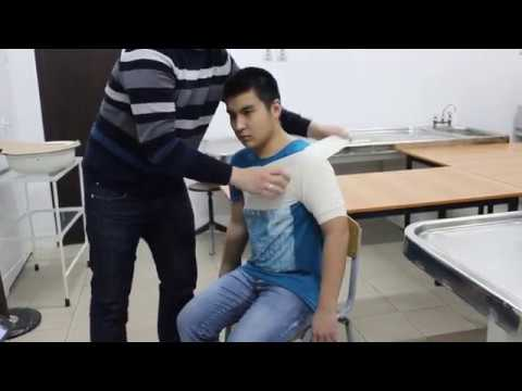 Колосовидная повязка на плечевой сустав