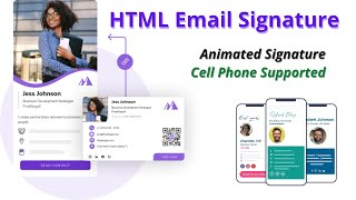 I will create professional clickable HTML email signature, animated email signature