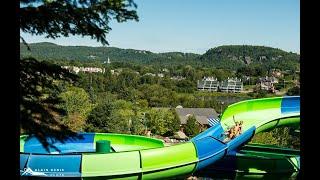 Glissades d'eau du Parc aquatique Sommet Saint-Sauveur