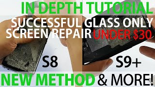 How to Replace Screen Glass Only on Galaxy S8 S9 Plus Shown