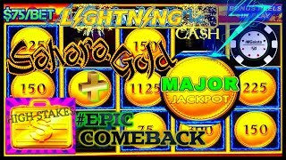HIGH LIMIT Lightning Cash Sahara Gold HUGE MAJOR JACKPOT HANDPAY ⚡️HIGH STAKES EPIC COMEBACK HANDPAY