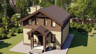 Проект дома 122-B, Площадь дома: 122 м2, Размер дома:  7,9x9,5 м