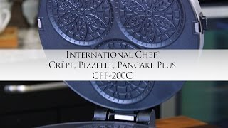 Cuisinart International Chef™ Crêpe, Pizzelle, Pancake Plus with Chef Jonathan Collins