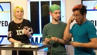 Markiplier & JackSepticEye play Fun Employed @ VidCon 2016 (w/EmmaBlackery!)(& Comicstorian!)