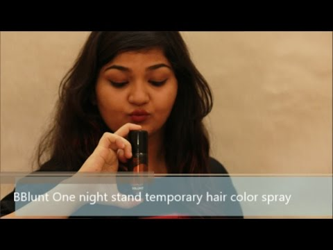 , title : 'Bblunt One Night Stand Temporary Hair Color Spray | Review + Demo | Divya Jain'